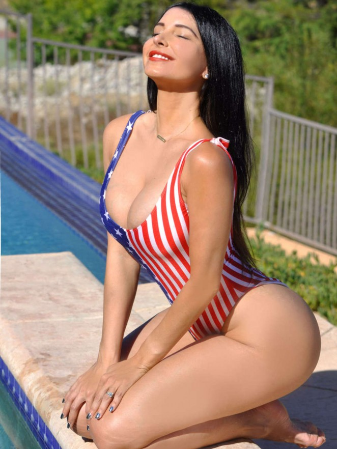 Mayra Veronica in Swimsuit in Los Angeles