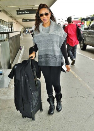MC Lyte at LAX Airport in Los Angeles