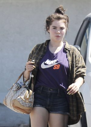 McKayla Maroney in Shorts Leaving an Acupuncture Clinic in LA