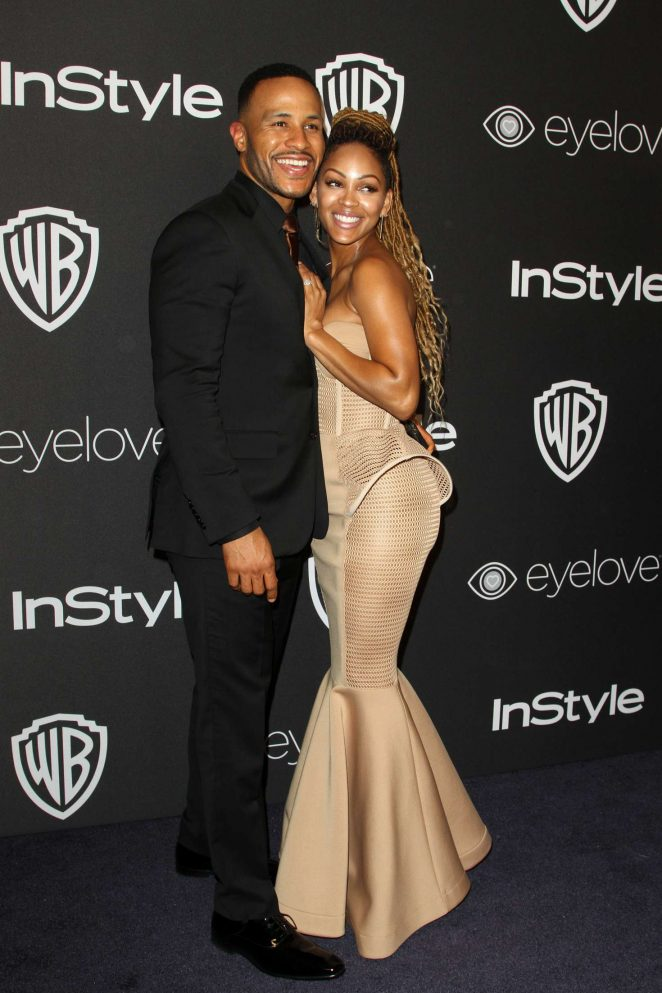 Meagan Good: 2017 InStyle and Warner Bros Golden Globes After Party -03