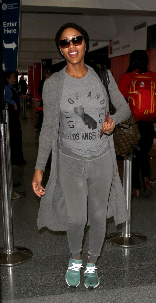 Meagan Good at LAX Airport in Los Angeles
