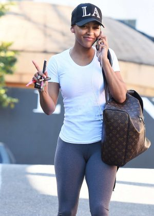Meagan Good in Leggings out in West Hollywood