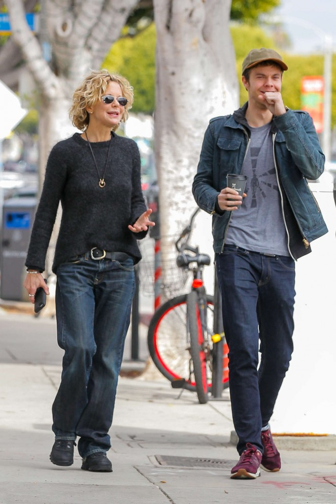 Meg Ryan and son Jack Quaid out in Los Angeles