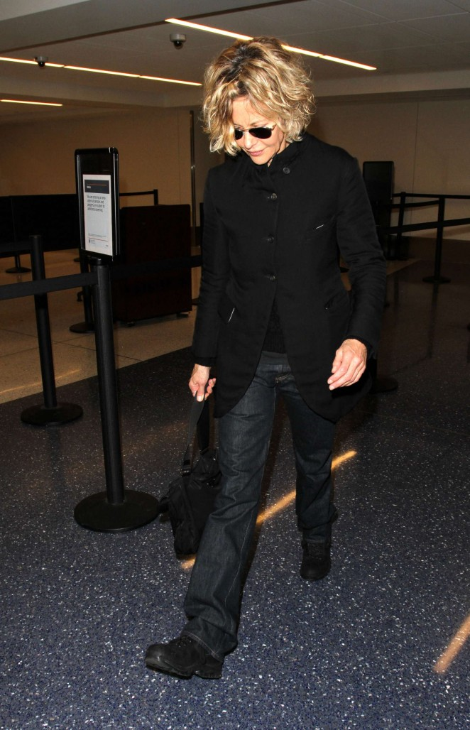 Meg Ryan at LAX Airport in Los Angeles