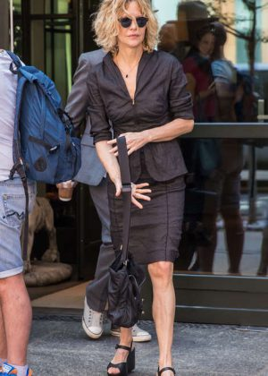 Meg Ryan Leaving the Crosby Hotel in New York City