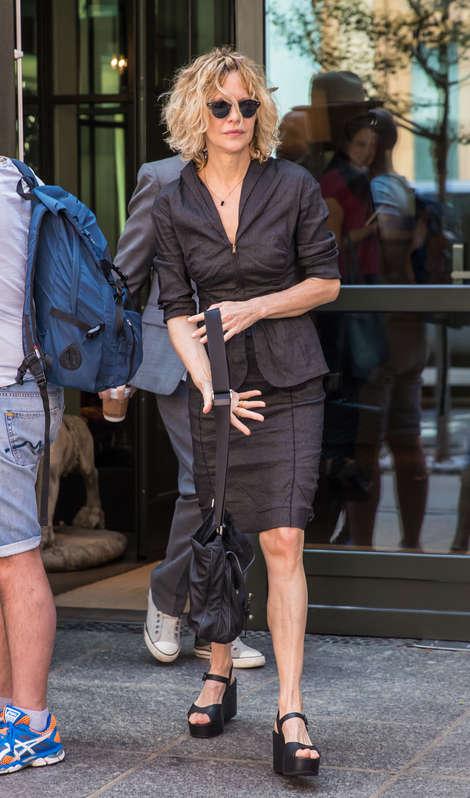 Meg Ryan Leaving the Crosby Hotel in New York City