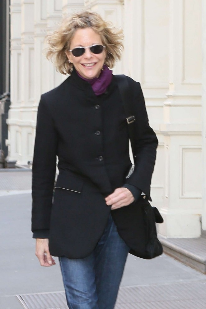 Meg Ryan in Jeans out in NYC