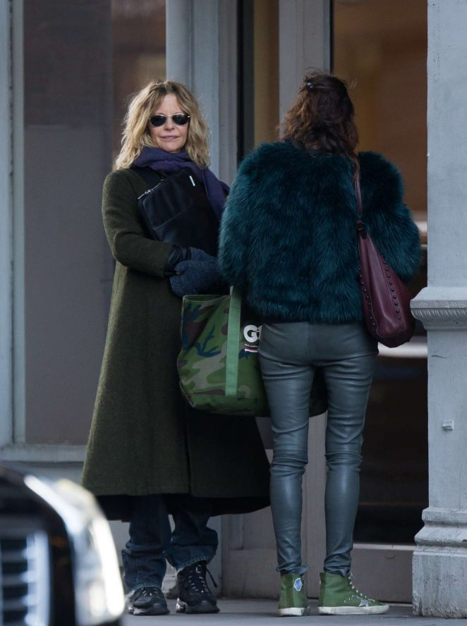 Meg Ryan out in Greenwich Village
