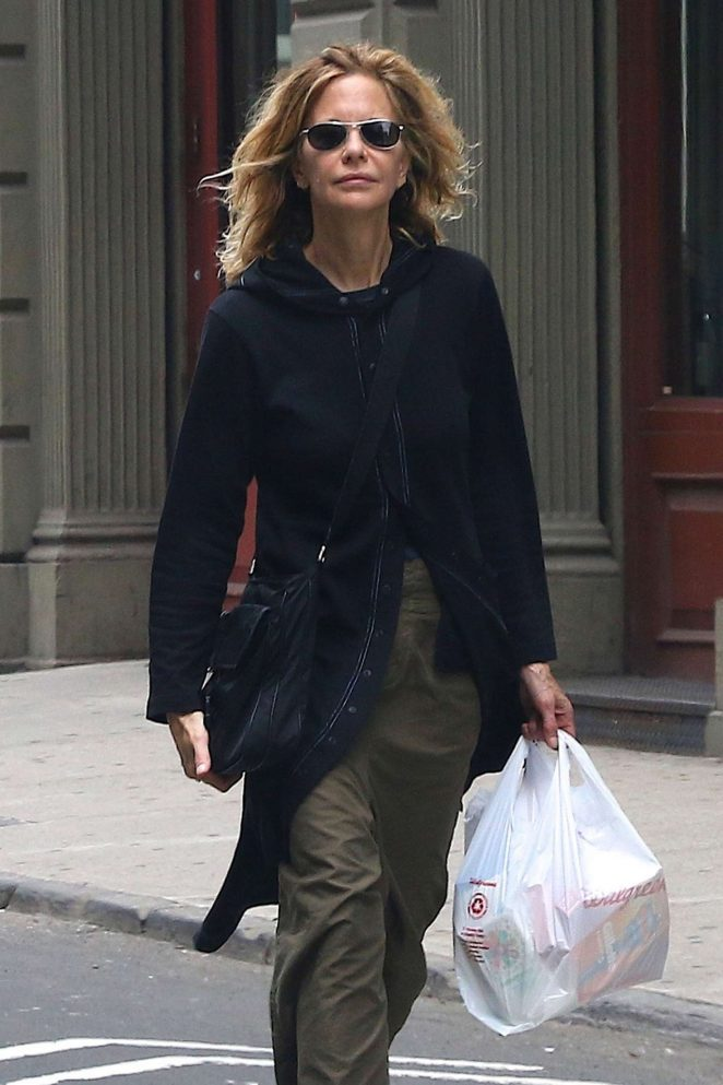 Meg Ryan out in Soho