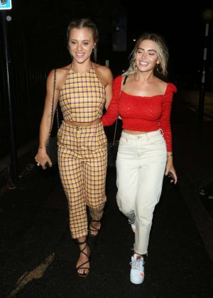 Megan Barton Hanson and Laura Crane - Out in London