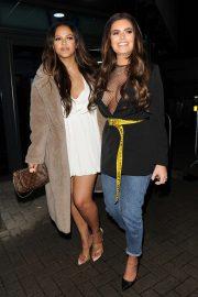 Megan Barton Hanson and Remi Butler - Leaving the LH2 Studios in London