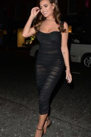 Megan Barton Hanson at Raffles night club in London