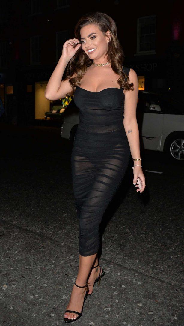 Megan Barton Hanson at Raffles night club in London