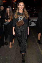Megan Barton Hanson - Leaving 100 Wardour Street in London