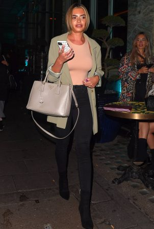 Megan Barton Hanson - Night out about in London