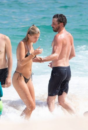 Megan Blake Irwin and Skeet Ulrich - Bikini candids in Cabo San Lucas