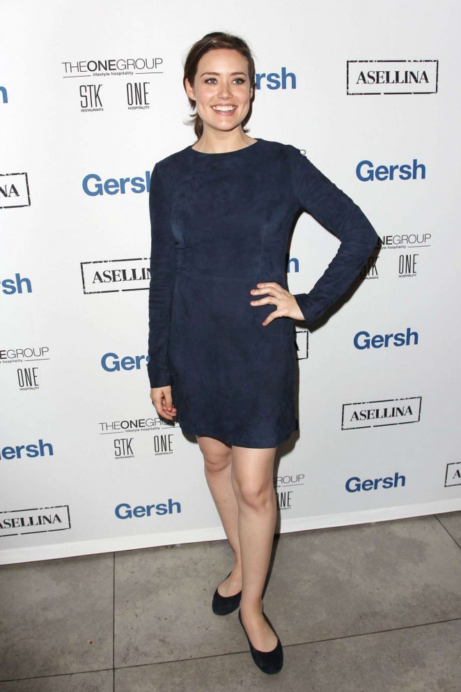 Megan Boone – 2015 Gersh Upfronts Party at Asellina at the Gansevoort in NYC