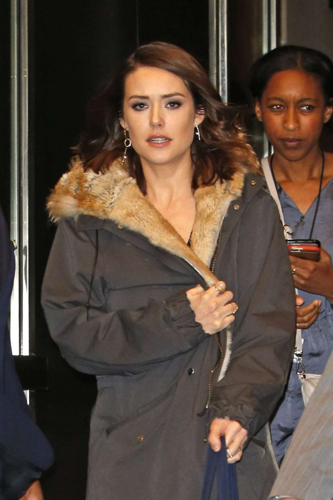 Megan Boone at Four Seasons Hotel in New York City