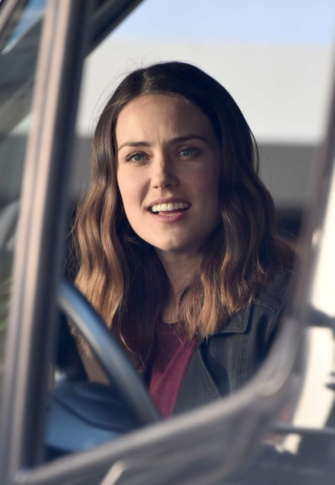 Megan Boone - 'The Blacklist' set on location in Greenwich Village in New York City