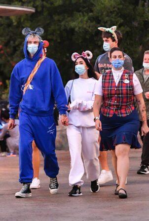 Megan Fox - And Boyfriend Machine Gun Kelly Visit Disneyland