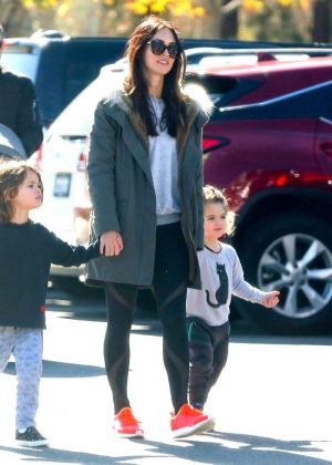 Megan Fox and Her Family Visiting the zoo in Los Angeles