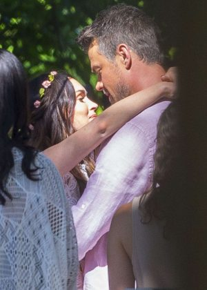 Megan Fox and Josh Duhamel - Shooting a scene for 'Think Like a Dog' in New Orleans