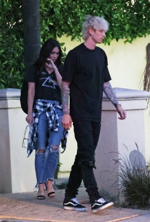 Megan Fox and Machine Gun Kelly - Leaving his mansion in Los Angeles