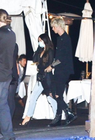 Megan Fox and MGK - Leave a dinner date at Mastro