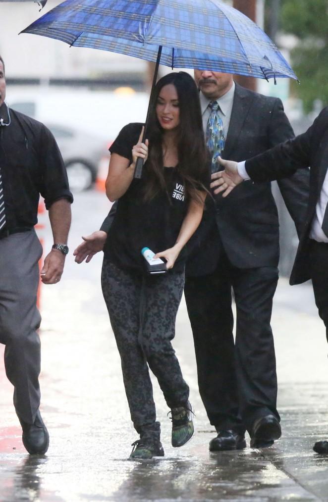 Megan Fox - Arriving at 'Jimmy Kimmel Live' in LA