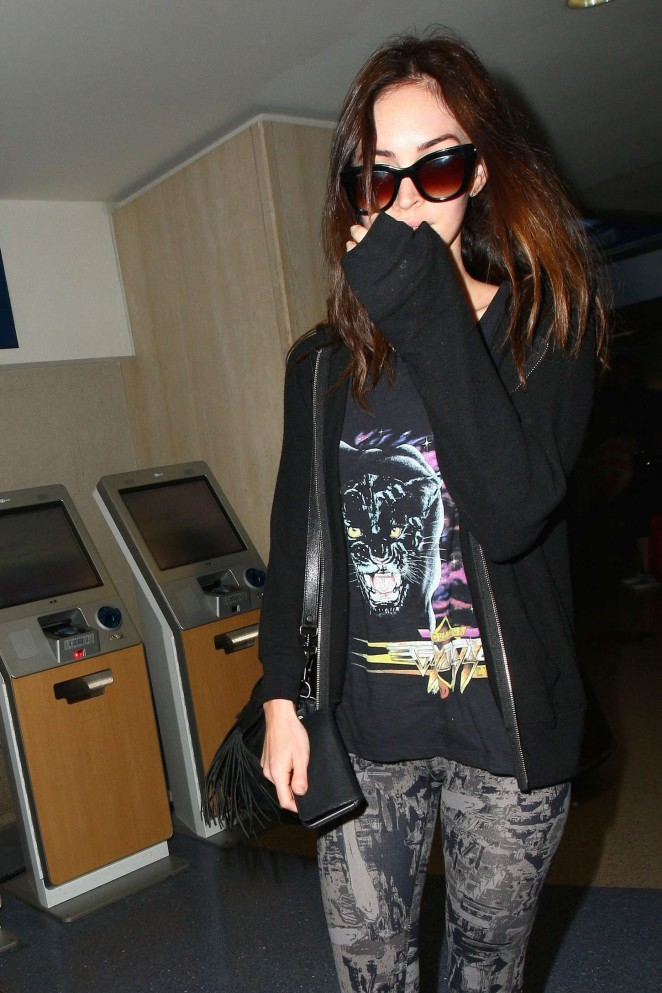Megan Fox at LAX Airport in LA