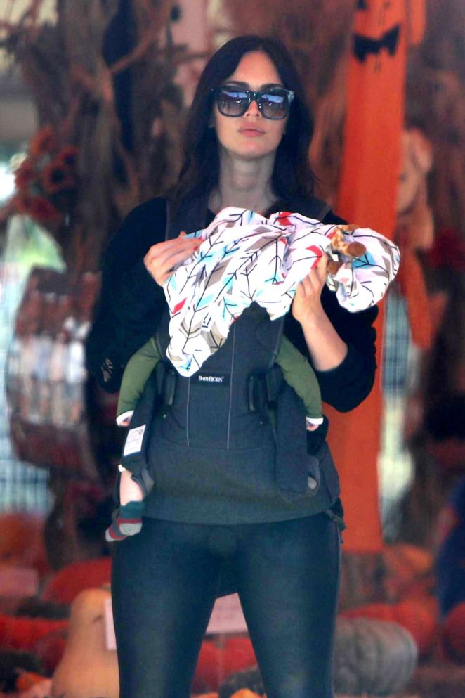 Megan Fox at the pumpkin patch in Malibu