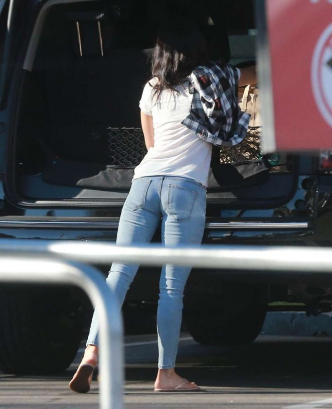 Megan Fox in Jeans at Whole Foods in Studio City