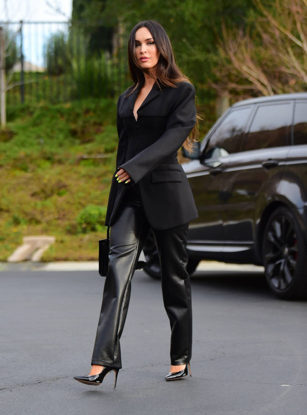 Megan Fox - Dons business while out for meeting in Los Angeles