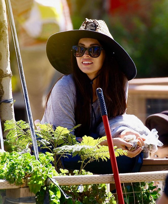 Megan Fox - Easter Egg Hunting at Underwood Family Farms in Moorpark California