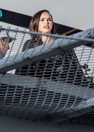 Megan Fox - Filming on a rooftop in Los Angeles