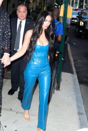 Megan Fox - Heading out in New York after attending the VMAs
