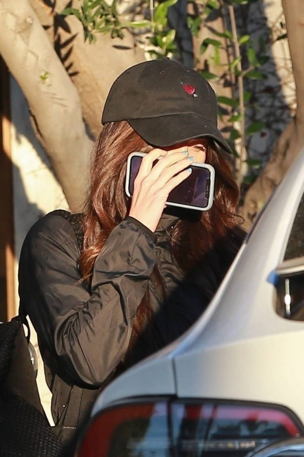 Megan Fox - Hides her face as she seen leaving a gym in West Hollywood