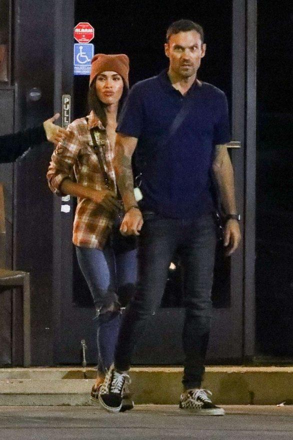 Megan Fox - In a jeans seen leaving SUGARFISH in LA