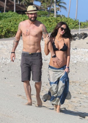 Megan Fox in Bikini Top in Hawaii