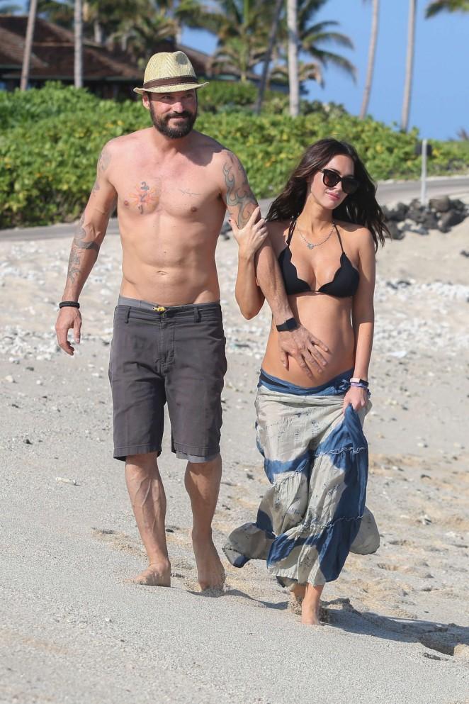 Megan Fox in Bikini Top in Hawaii