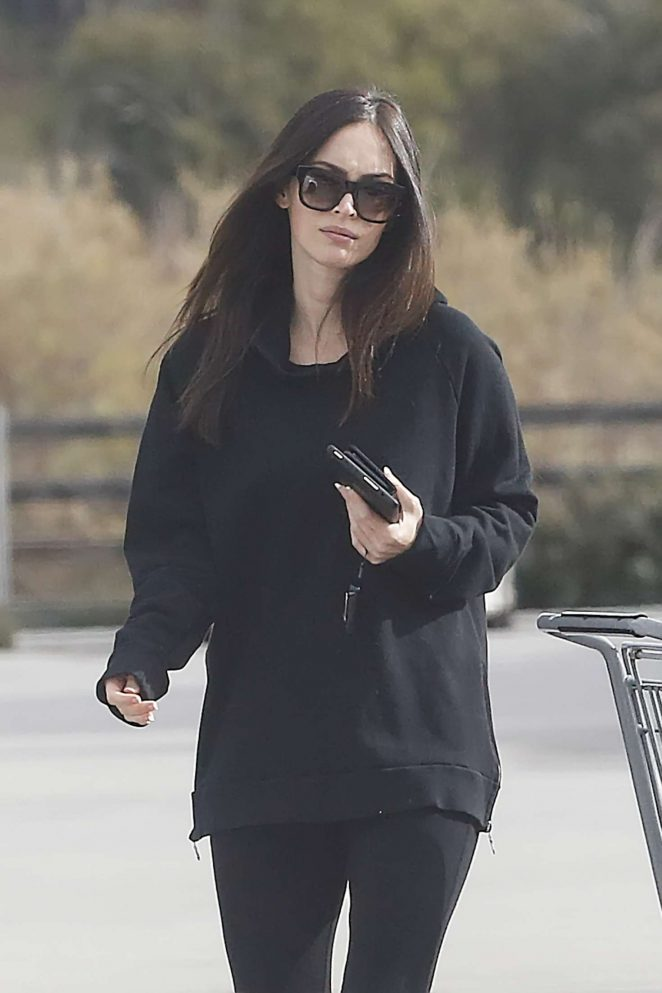 Megan Fox in Black outfit Shopping in Malibu