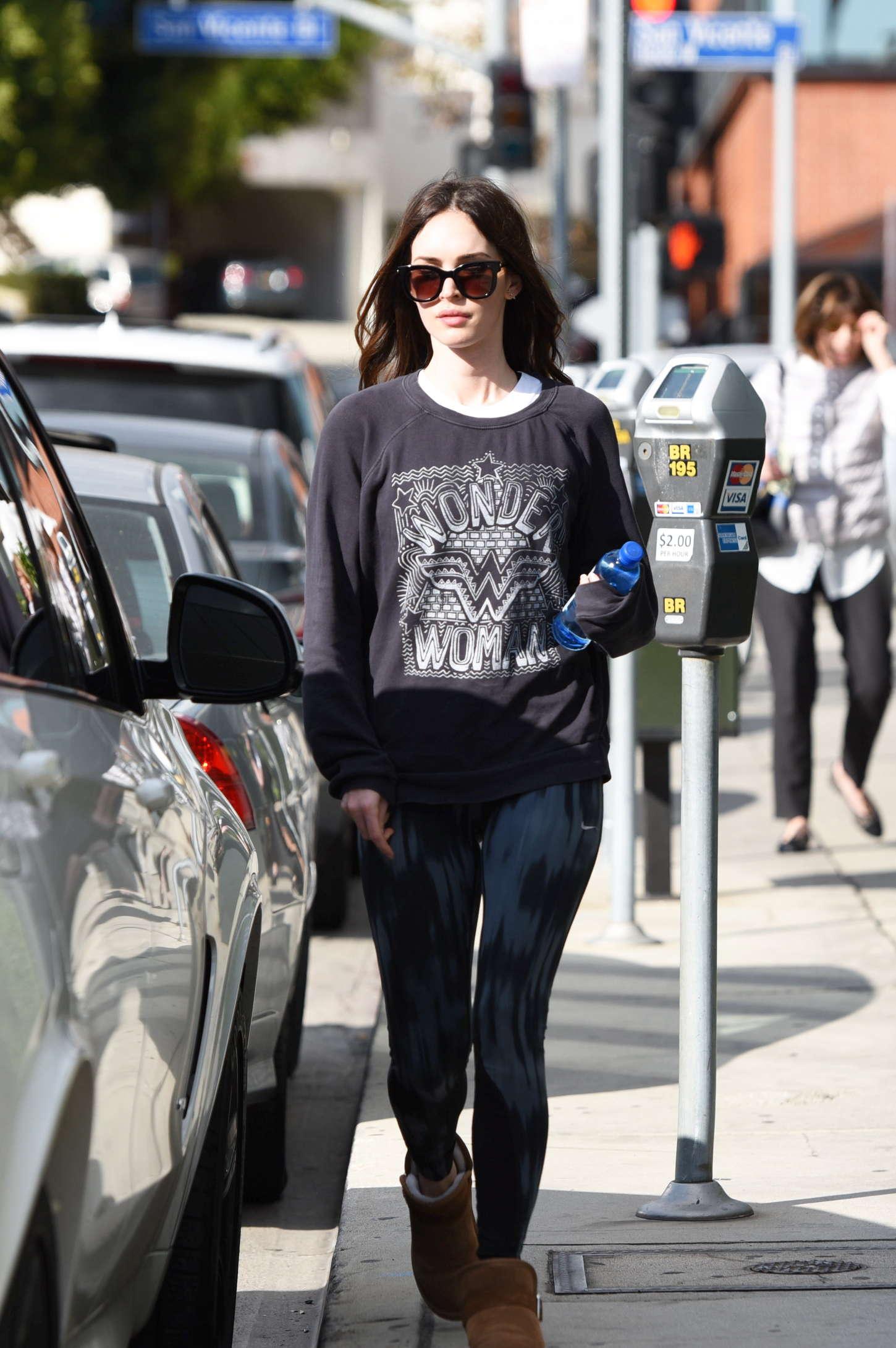 Megan Fox in Spandex out in LA