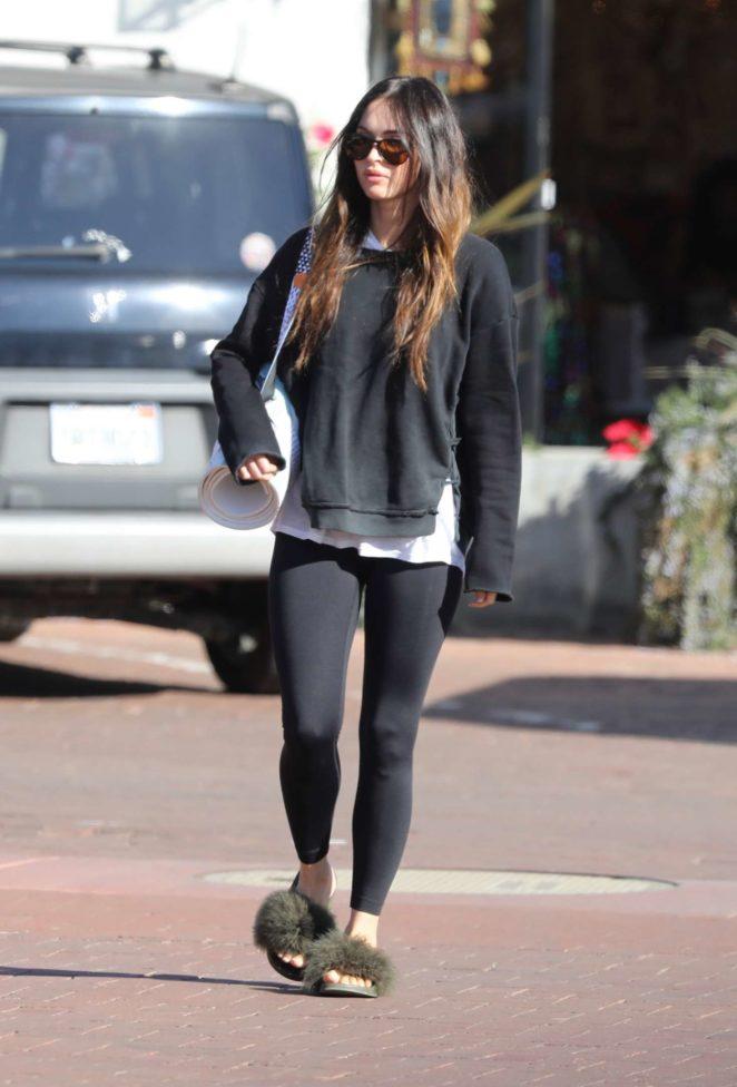 Megan Fox in Tight Leggings - Out in Malibu