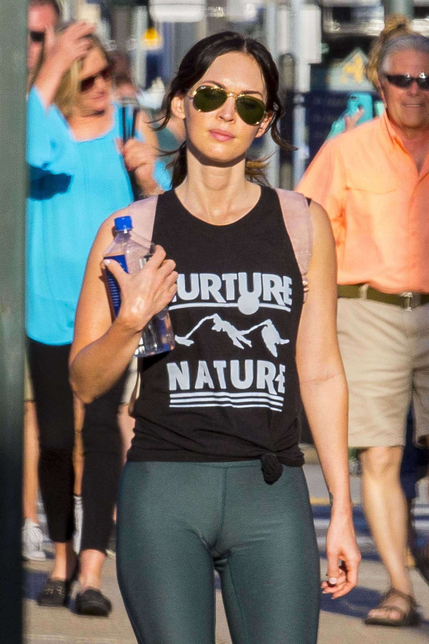 Megan Fox In Tights Out In New Orleans Gotceleb