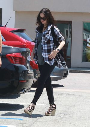 Megan Fox in Tights walking in Malibu