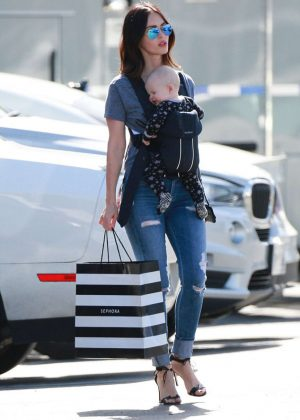 Megan Fox - Leave shops for cosmetics in Malibu