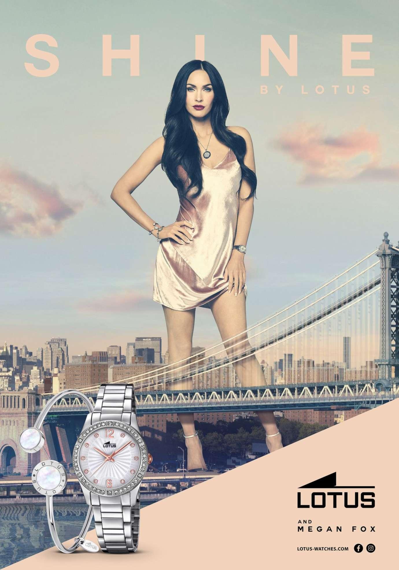 Megan Fox - New Face of Lotus Watches (April 2017)