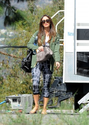 Megan Fox on the set of 'New Girl' in LA
