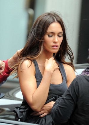 Megan Fox - On the set of 'Teenage Mutant Ninja Turtles 2' in NYC