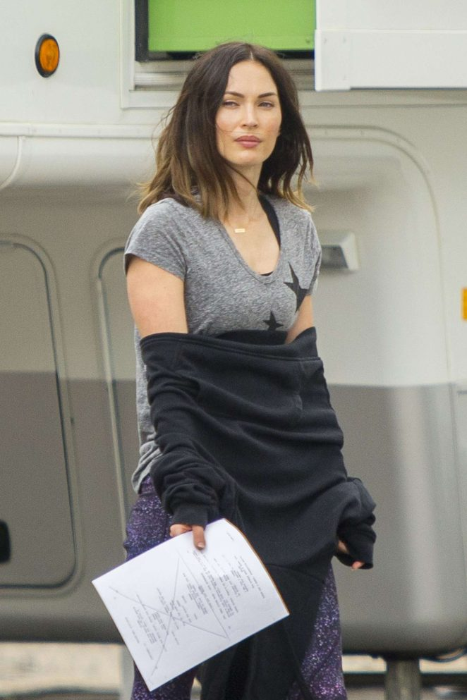 Megan Fox on the set of 'Think Like A Dog' in New Orleans